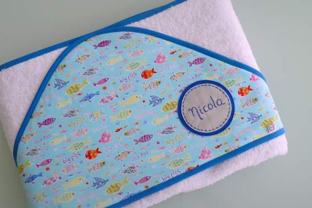 toalla capa infantil artesanal personalizada 002