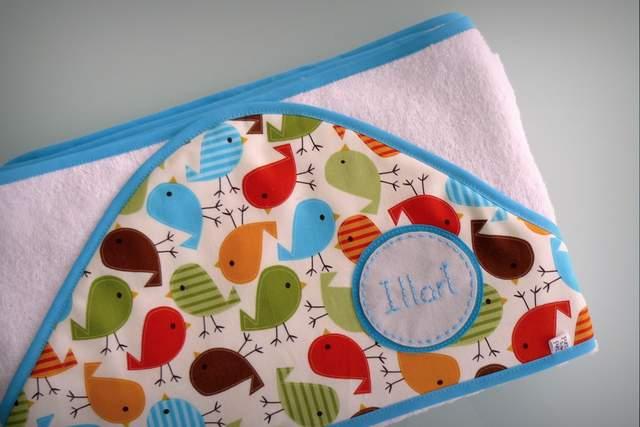 toalla capa infantil artesanal personalizada 003