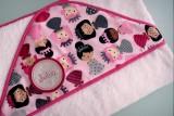 toalla capa infantil artesanal personalizada 004