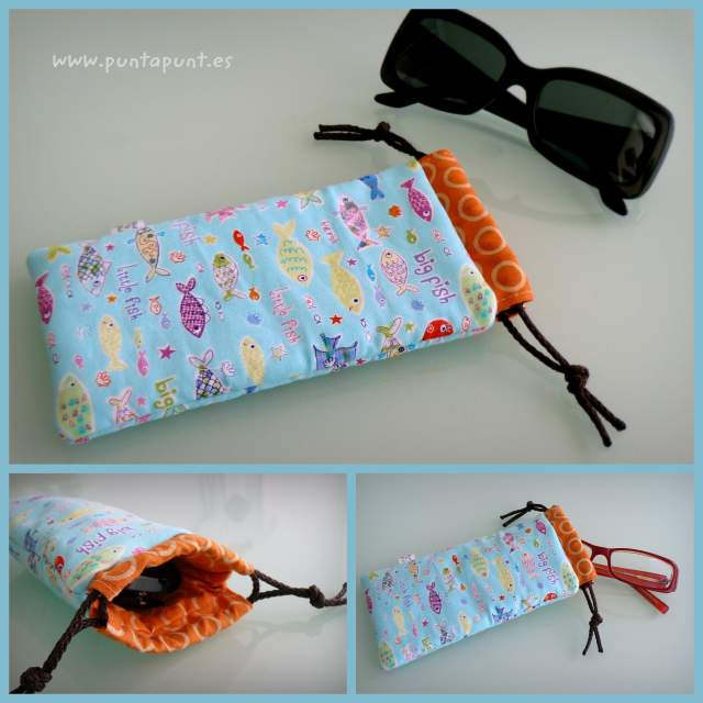 funda acolchada para gafas de sol o de vista artesanal