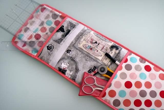 funda para accesorios de costura y patchwork artesanal personalizado