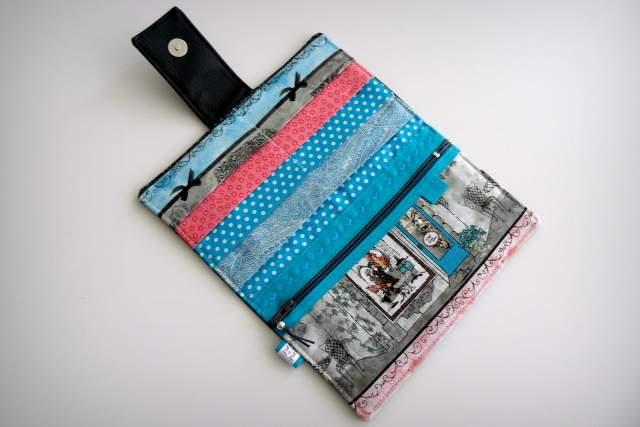 set cartera billetero y monedero neceser personalizado artesanal-008