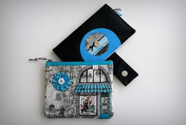set cartera billetero y monedero neceser personalizado artesanal-011