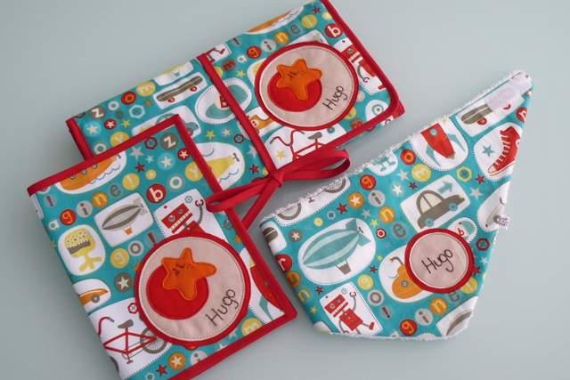 set de bebe personalizado varias piezas artesanal punt a punt-002