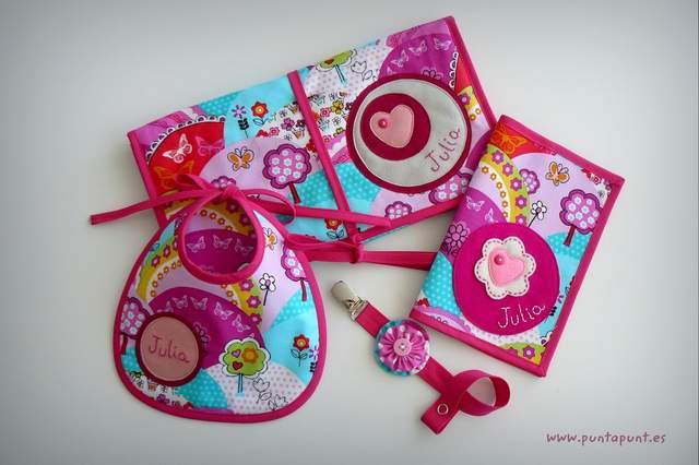 set de bebe personalizado varias piezas artesanal punt a punt-009