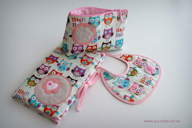 set de bebe personalizado varias piezas artesanal punt a punt-011