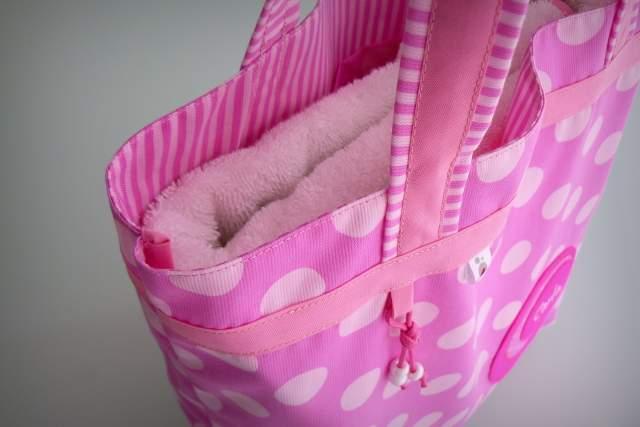 set de bolso y toalla para chica personalizado artesanal-007