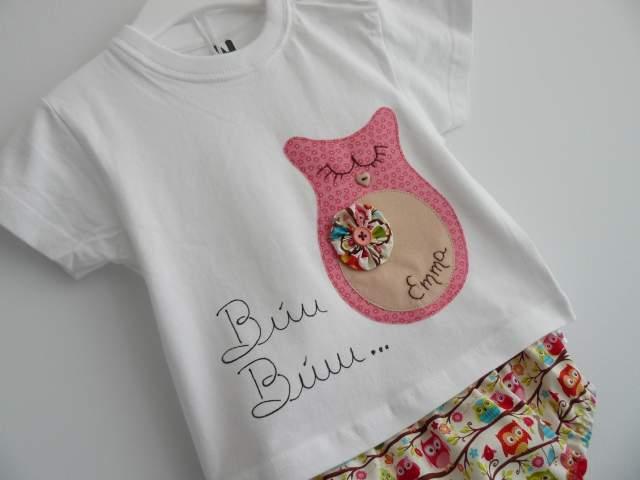 set de camiseta y ranita con saco infantil personalizado artesanal-001
