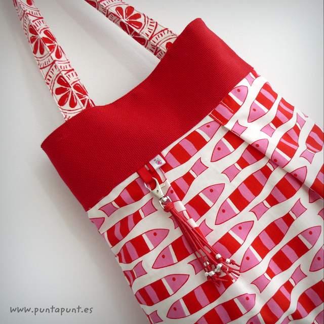 bolso reversible artesanal modelo summer pomelo rojo -001