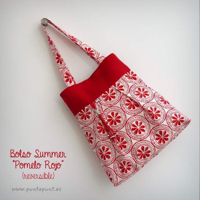 bolso reversible artesanal modelo summer pomelo rojo -003
