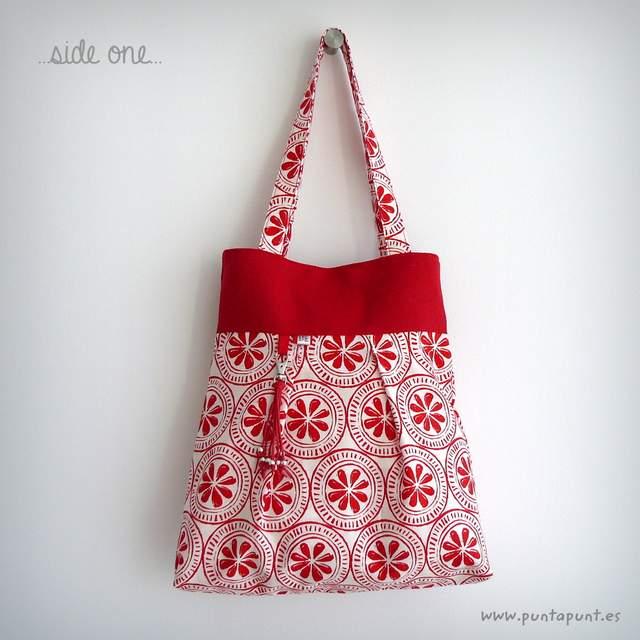 bolso reversible artesanal modelo summer pomelo rojo -005