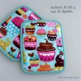 delantal personalizado y asideros para cocina cakes turquesa -002
