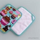 delantal personalizado y asideros para cocina cakes turquesa -003
