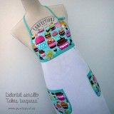 delantal personalizado y asideros para cocina cakes turquesa -004