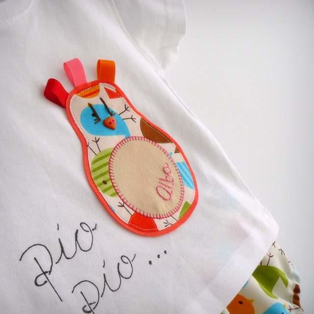 Set de camiseta y ranita bebé «Pío·Pío»