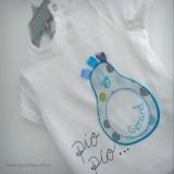 set bebe camiseta y ranita personalziada modelo pio pio-002
