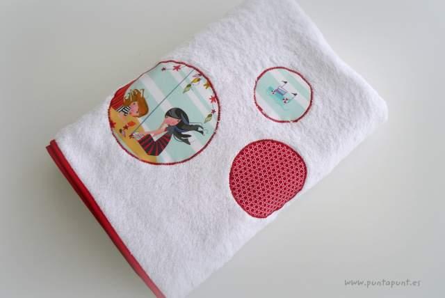 set bolso y toalla personalizado artesanal mar de luz punt a punt-002