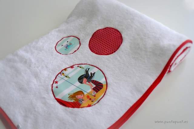 set bolso y toalla personalizado artesanal mar de luz punt a punt-003
