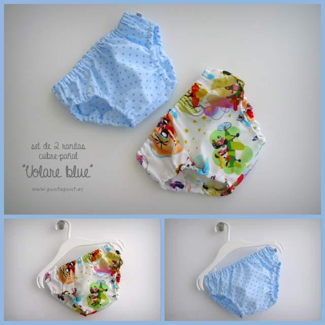 set de dos ranitas bebe artesanal color melocoton y azul 002