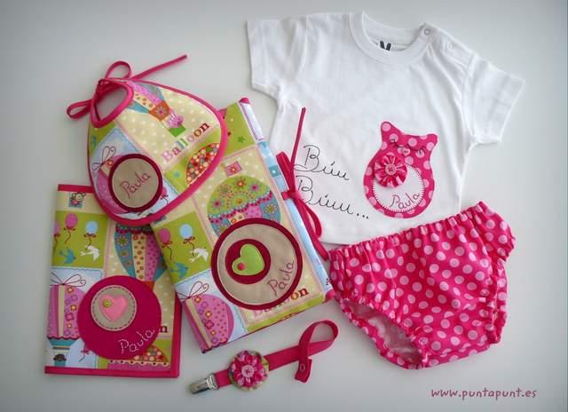 set infantil para bebe personalizado paula artesanal punt a punt-003