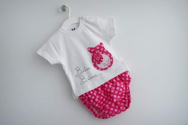 set infantil para bebe personalizado paula artesanal punt a punt