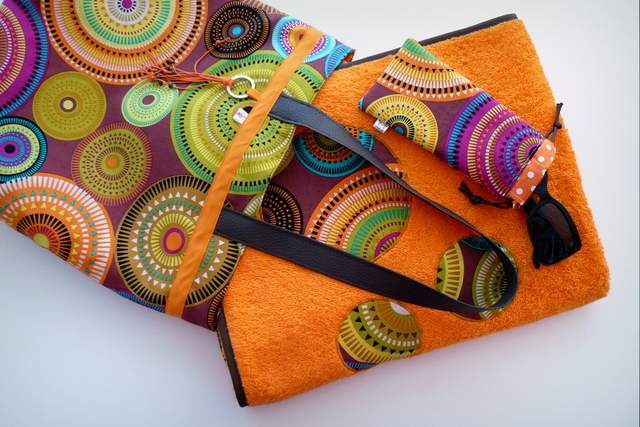 set playa bolso toalla y funda gafas personalizado artesanal-001