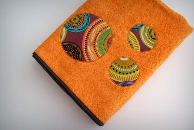 set playa bolso toalla y funda gafas personalizado artesanal