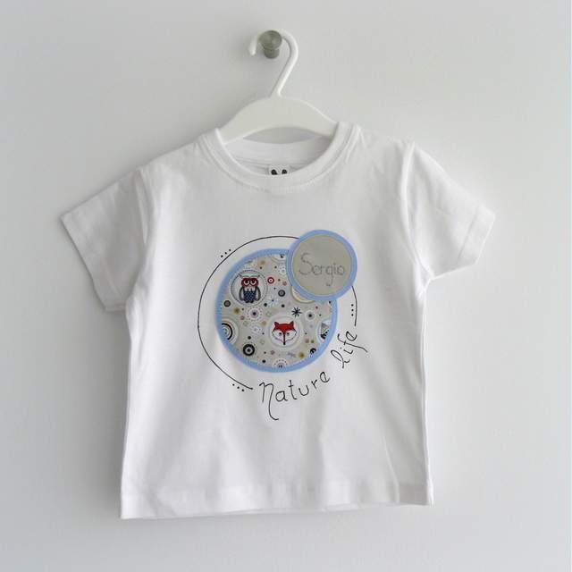 camiseta personalizada y pantalon infantil a juego nature life-001