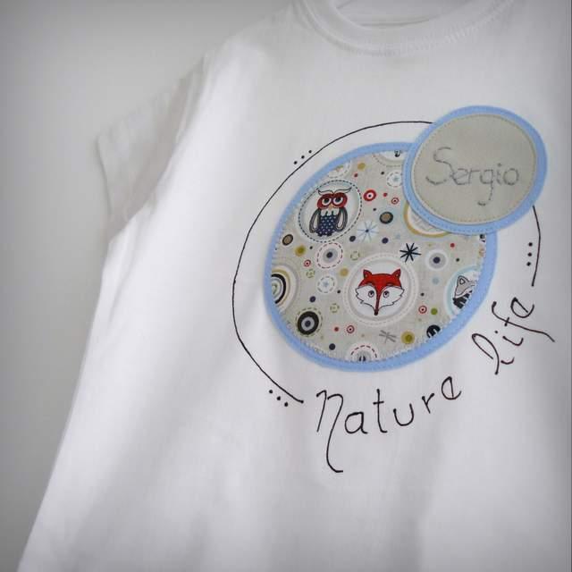 camiseta personalizada y pantalon infantil a juego nature life-003
