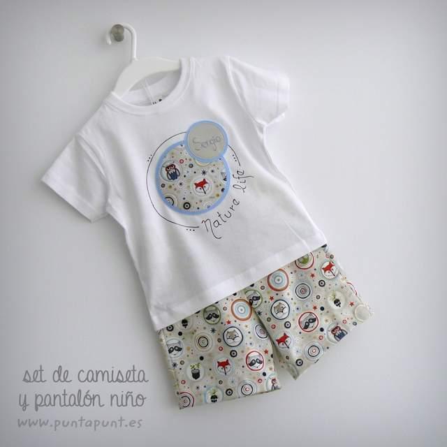 camiseta personalizada y pantalon infantil a juego nature life-004