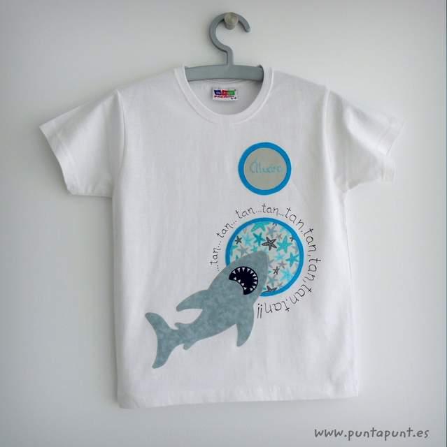 camiseta tiburon artesanal personalizada punt a punt-001