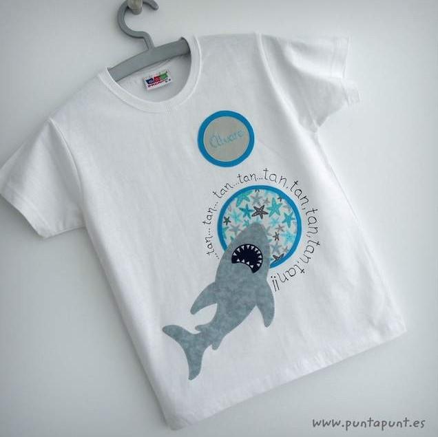 camiseta tiburon artesanal personalizada punt a punt-003