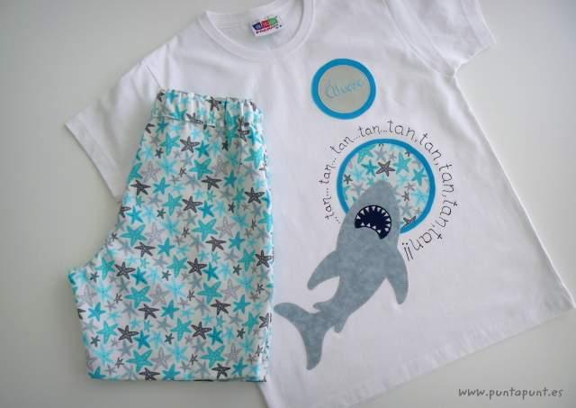 camiseta tiburon artesanal personalizada punt a punt-005