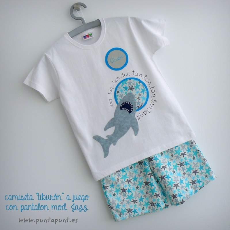 camiseta tiburon artesanal personalizada punt a punt-007
