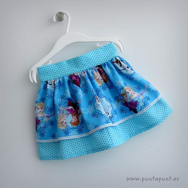 falda infantil modelo bamba punt a punt