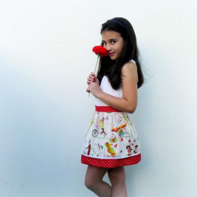 mini falda doble caida modelo sara-002