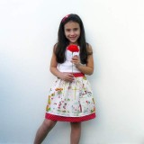mini falda doble caida modelo sara-003