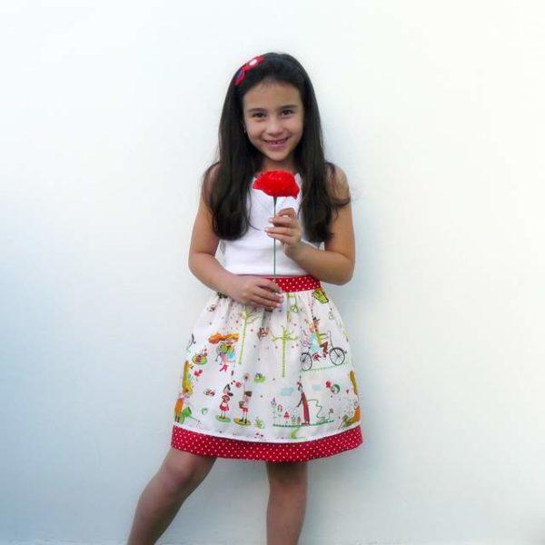 Set de camiseta y falda para niña modelo «Bamba»