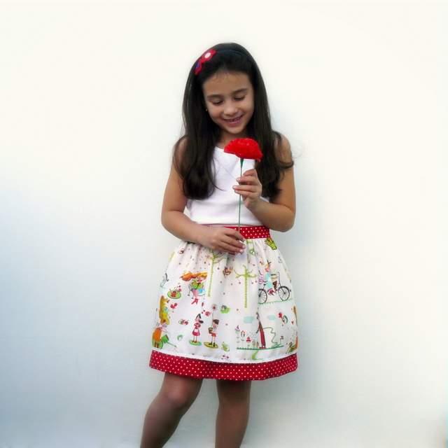 mini falda doble caida modelo sara-004
