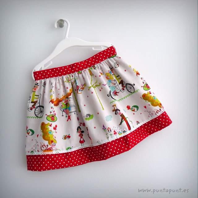 mini falda doble caida y camiseta a juego punt a punt-002