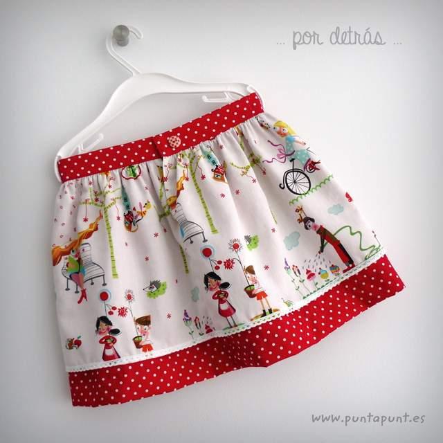 mini falda doble caida y camiseta a juego punt a punt-003