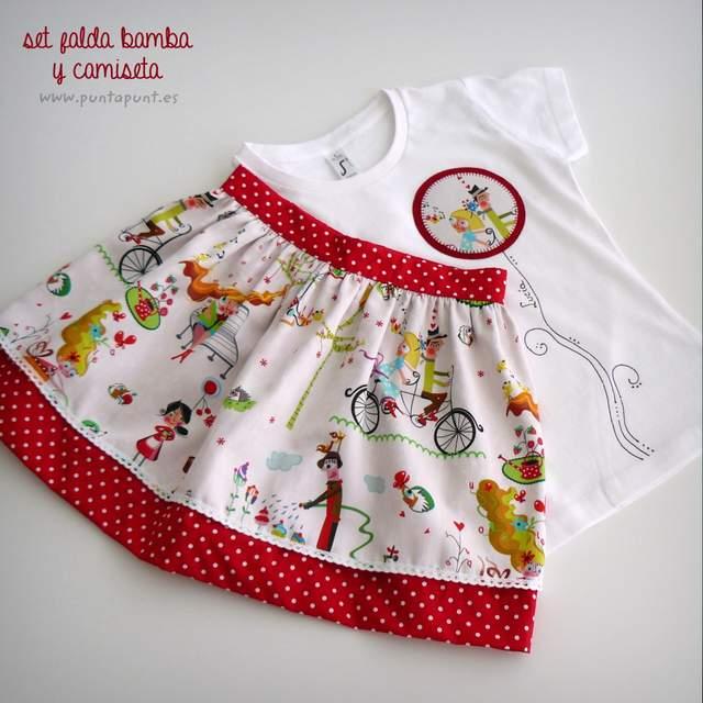 set falda y camiseta infantil personalizada bamba puntapunt-011