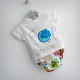 set infantil camiseta personalizada y ranita bebe volare