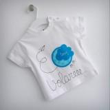 set infantil camiseta personalizada y ranita bebe volare -002