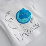 set infantil camiseta personalizada y ranita bebe volare -003