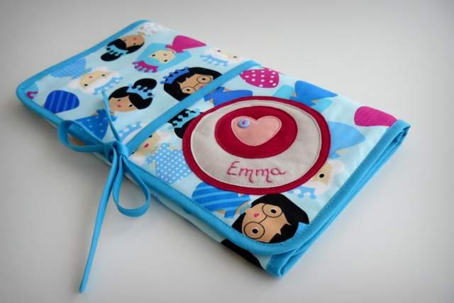 set infantil personalizado bebe capa de ducha cambiador neceser princesas-003