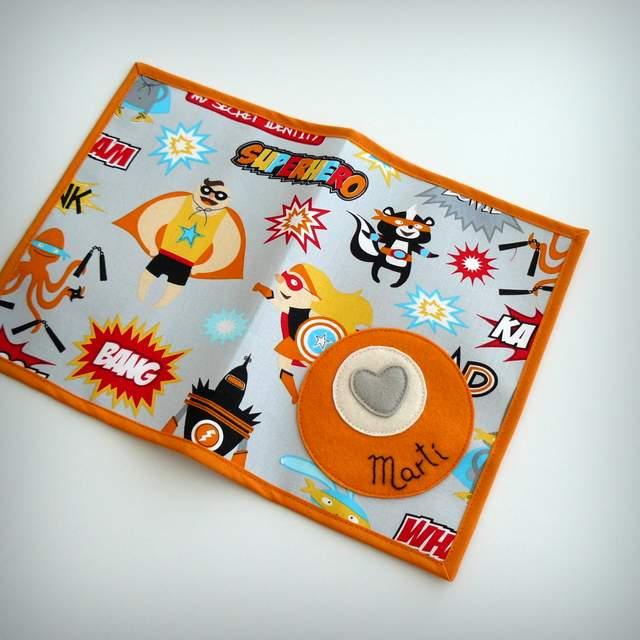 set camiseta y ranita personalizado super hero naranja punt a punt-006