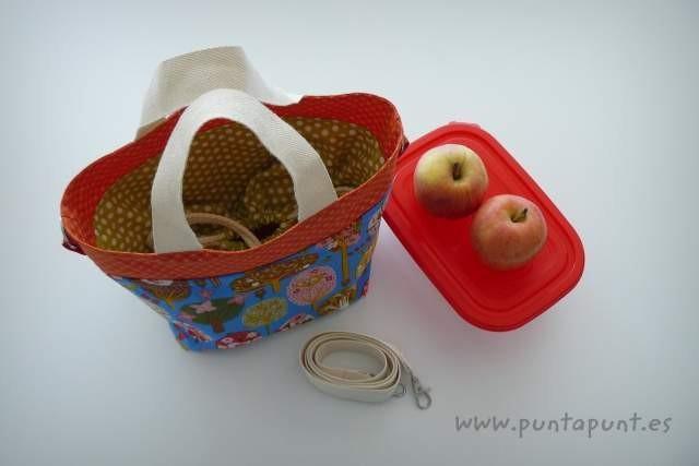 bolso cesta para llevar fiambrera comida picnic punt a punt-002