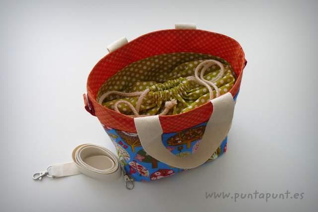 bolso cesta para llevar fiambrera comida picnic punt a punt-005