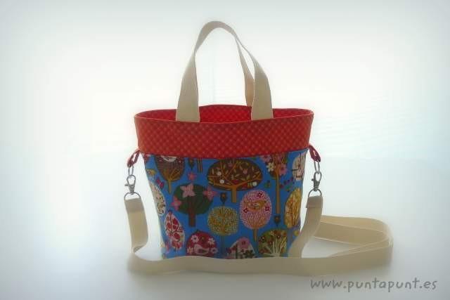bolso cesta para llevar fiambrera comida picnic punt a punt-006